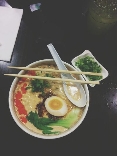 My Sunday night dinner. Ramen Noodles Japanese Food