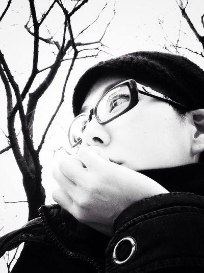 Me 冬枯れ Blackandwhite Winter desolate wintry scene.