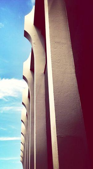 Architectural Detail Blue Sky Brutalism Midcentury Modern