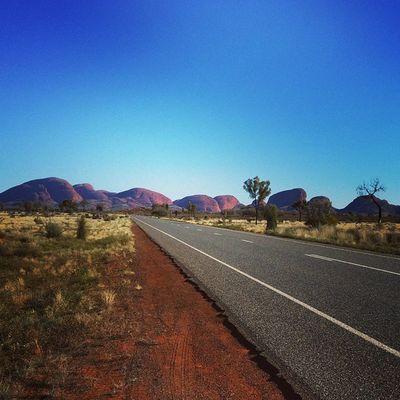 Red Centre desert road