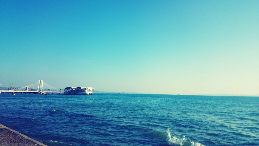 Sea Blue Clear Sky Durres Al