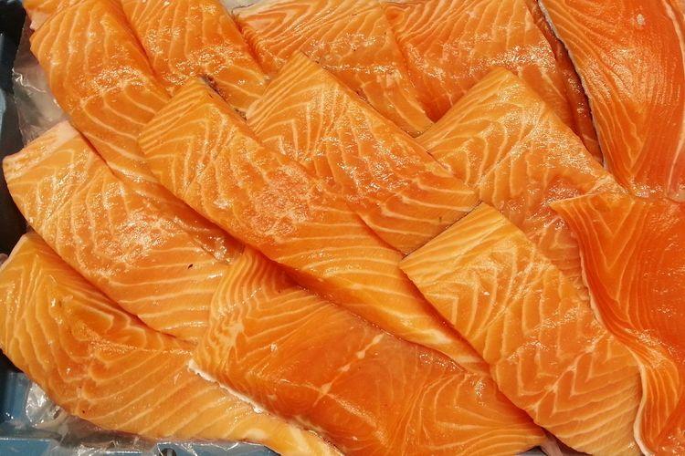Main dish for lunch Fresh Fish Salmone Orange Healthy Food