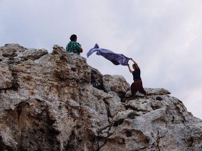 The Great Outdoors - 2017 EyeEm Awards Two People Rock - Object Sky Day Nature Water Beauty In Nature Atardecer En La Isla De Menorca #sea Balearic Islands