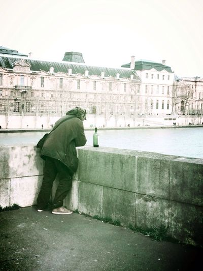 Lonely in Paris Paris France Seine Alcohol