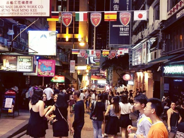 Last night at lan kwai fong before the final game between argentina & germany World Cup 2014 Night Out Street Photography My City