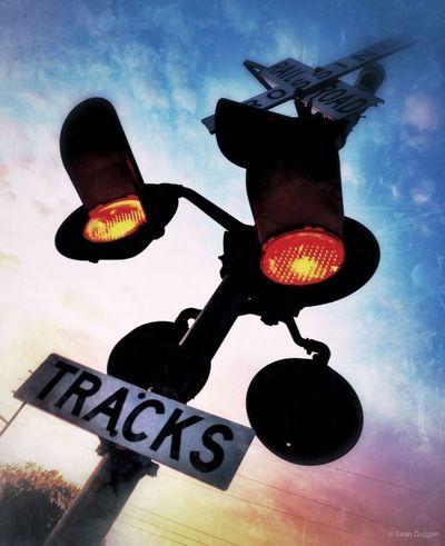 Railroad Crossing at Twilight