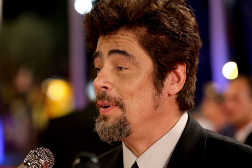 Benicio Del Toro Cinema Festival Movie Stars Movie Star Cinema Holliwod Studios Holliwood Star Close Up Benicio Del Toro Star International Star Interview Vip Holliwood Holliwood Star Star Actors Actor Headshot Portrait One Person Adult Night Men Young Adult Arts Culture And Entertainment Focus On Foreground Close-up Microphone