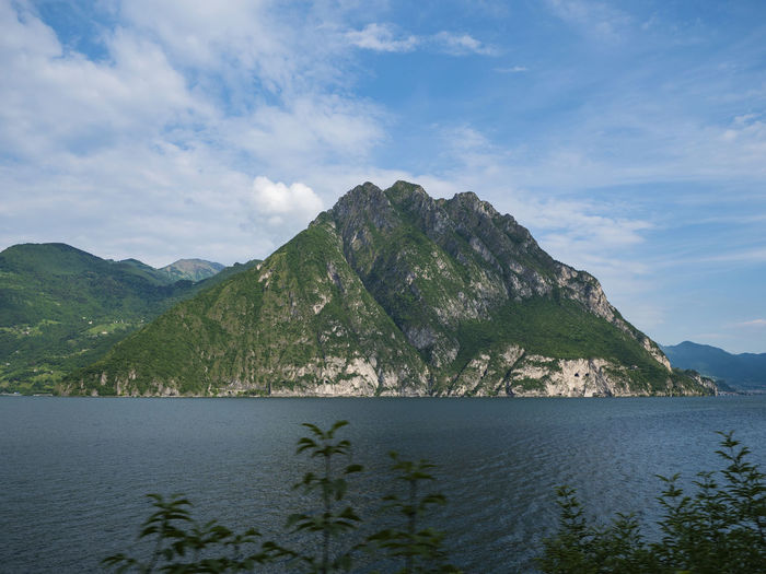 Lil' mountain Iseo Beauty In Nature Cloud - Sky Day Iseo Lake Italy Mountain Nature No People Outdoors Scenery Scenics - Nature Sea Sky Tranquil Scene Tranquility Water EyeEmNewHere