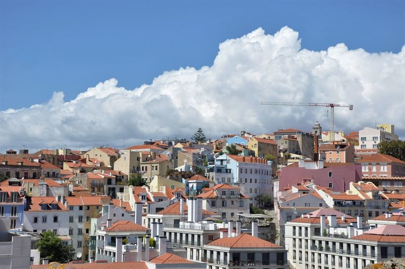 Lisbon - Portugal Portugal Adventures In The City Architecture Blue Building Building Exterior Built Structure City Cityscape Cloud - Sky Clouds Day House Lisbon Nature No People Outdoors Pollution Residential District Roof Sky Smoke - Physical Structure Town TOWNSCAPE