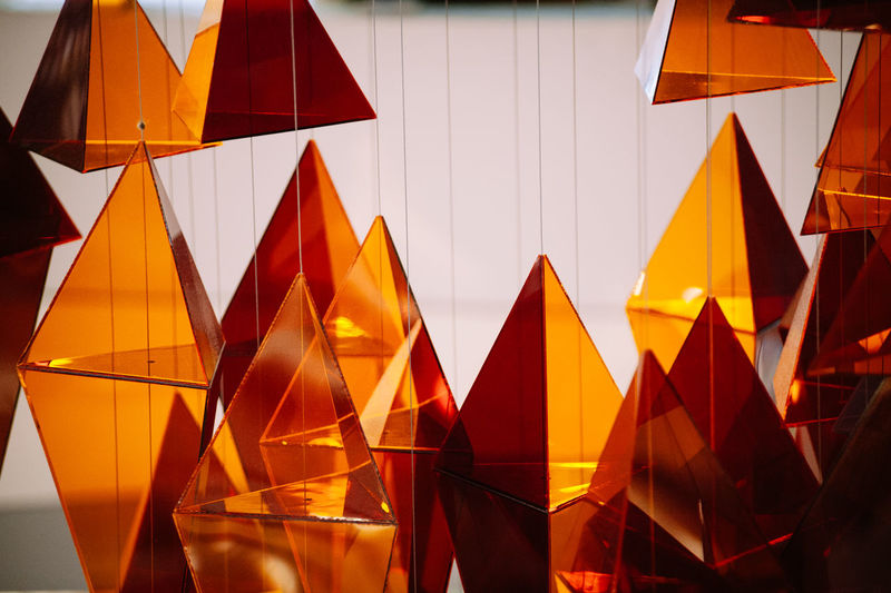 Abundance Backgrounds Close-up Colorful Day Design Full Frame Geometric Shape In A Row Low Angle View Modern Multi Colored No People Orange Color Repetition Shape Side By Side Sky The Week On EyeEm 43 Golden Moments Fine Art Photography