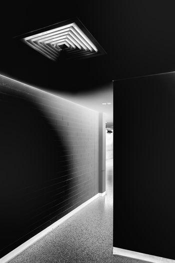 Architecture Black And White Illuminated Indoors  No People