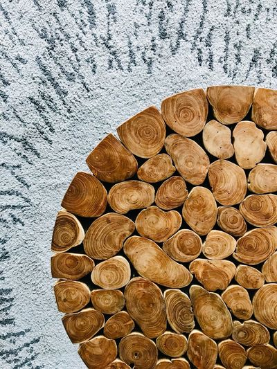 From Above  ShotOnIphone Modern Design Design Taichung Taiwan Modern Decoration Decoration Carpet Wooden Table Large Group Of Objects Day No People Nature Abundance Wood Textured  Pattern Lumber Industry Backgrounds Firewood Close-up Shape Wood - Material Timber Log Stack Tree