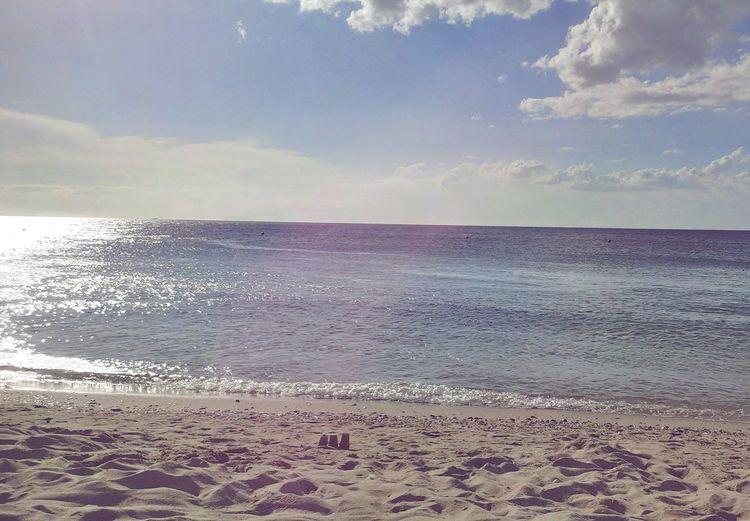 Shoreline Water Sea Beach Wave Pastel Colored Sand Sky Horizon Over Water Cloud - Sky Seascape Shore
