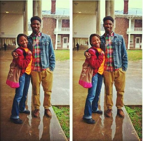 Me & Tae Tae Yesterday in the snow (: