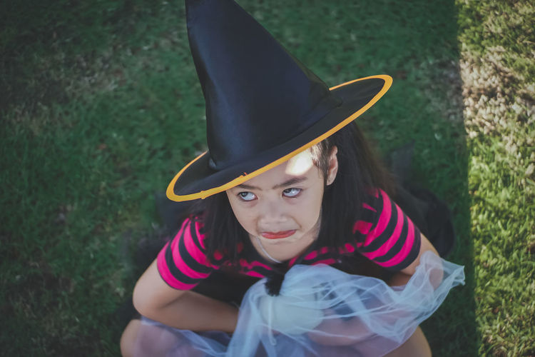 My little witch, Halloween day.. Acting Cosplay Dress Glass Ball Halloween Hat Sunlight Asian Girl Ball Glass Black Hair Day Face Girl Kid Little Girl Magic Orange Color Outdoors Playful Portrait Skull Smilling Witch Wonder Young Adult 2018 In One Photograph Moments Of Happiness