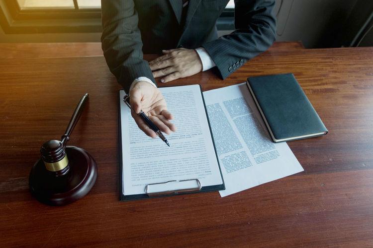Lawyer present