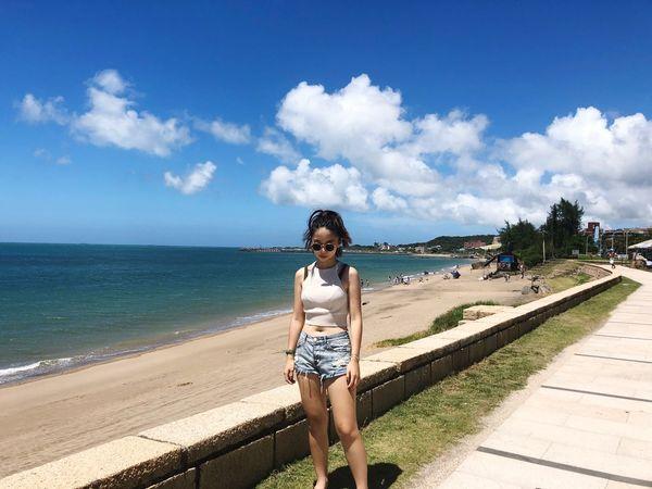 Summer beach🏖️ Likeforlike VSCO Asian Girl Summer ☀ Sea Casual Clothing Lifestyles Beach Sky Leisure Activity