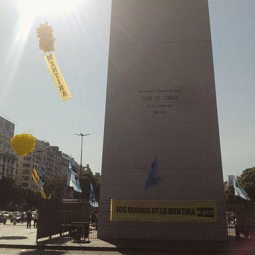 campañas Buenosaires Argentina Capitalfederal Centro obelisco obelisk city campaña macri pro mentira electioncampaign losglobosdelamentira