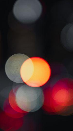 City lights are