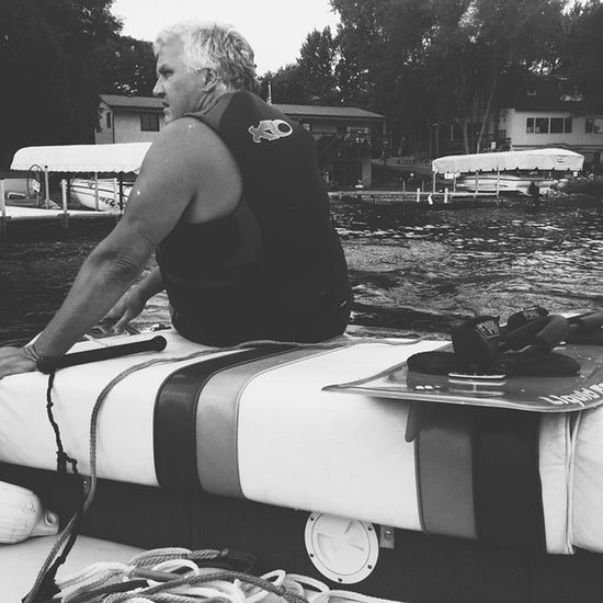 Dad getting ready to wakeboard. The ol' man's StillGotIt