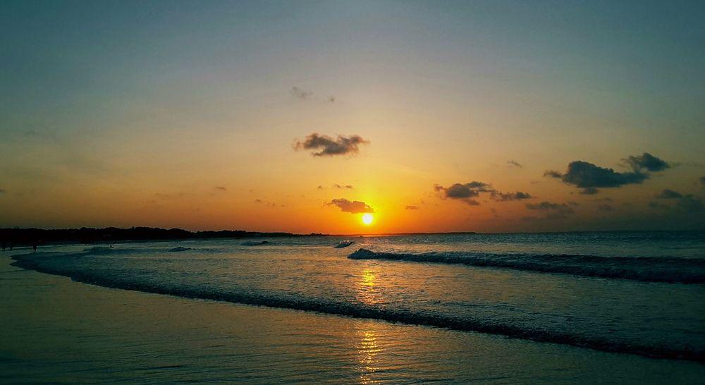 City of Salinópolis, Atalaia Beach, State of Pará, Amazon, Brazil. Sunset Sea Reflection Beach Sky Nature Water