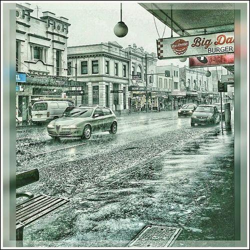 Downpour Rain Wet Water Traffic Innerwest