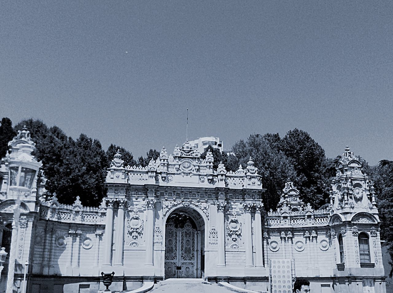 Dolmabahce Palace Against Clear Sky