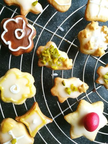 Preparing for christmas 😊 Food And Drink High Angle View Ready-to-eat Indoors  Cooling Rack Christmastime Biscuit Time Baking Cookies Sweet Enjoy The New Normal Always Be Cozy Handmade For You Art Is Everywhere