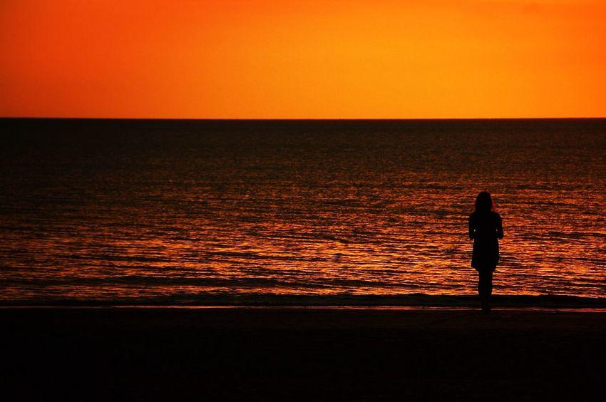 Taking Photos Silhouette Sunset BorneoLandBelowTheWind