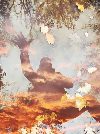 Double Exposure Real People Day Digital Composite Plant Tree Nature Multiple Exposure Outdoors Adult Men Leisure Activity Lifestyles Creativity Sky Cloud - Sky Women Branch Change