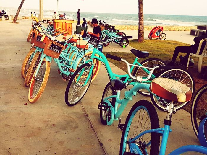 Clouds And Sky Sea Bikes Ride Bikes Dominican Republic Malecon Outdoors Famliytime Exercising Land Vehicle Nature Summer Exploratorium