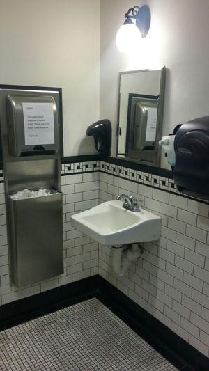 Restroom Sink Washsink Wash Mirror