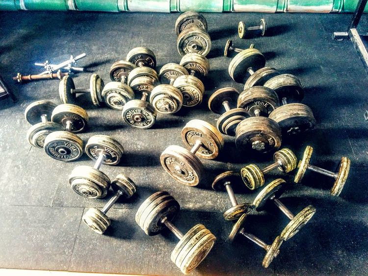 Too lift or not to lift. Metal No People Chain Close-up Gold Colored Indoors  Large Group Of Objects Variation Jewellery Table Gym Nolife LifeLess Dumbbells Glory Oldschool