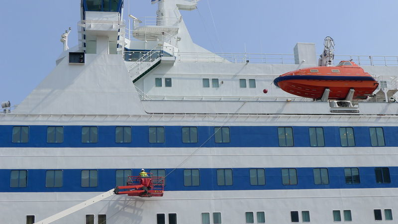 Check Check Up Clean Cleaning Clear Sky Day Ferry Life Boat Low Angle View No People Outdoors Ship Sky