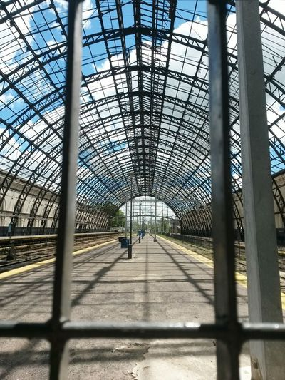 Shadow Day Architecture Built Structure Indoors  Sunlight No People Sky Estación La Plata Train Station Estación De Tren Argentina Iron Structure