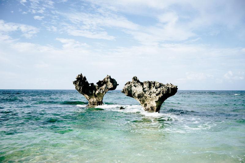 OKINAWA, JAPAN Okinawa Okinawa Loveheart Heart ❤ Heart Sea Beachlife Beach Ocean Water Okinawan Beach Beautiful Day Rocks And Sea Beautiful View Ocean And Rock Summer Breezee Beach Life Seascape Photography Landscape Seascape Two Hearts Heart Rock Heart Rocks Heart Shape Rock And Sea
