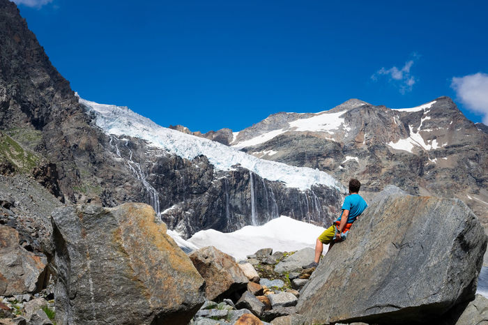 Il ghiacciaio del Bernina Adult Adults Only Blue Climbing Day Full Length Hiking Landscape Mountain Mountain Range Mountains Nature One Person Outdoors People Rock - Object Sky Snow Sondrio Sport Valmalenco Valtellina