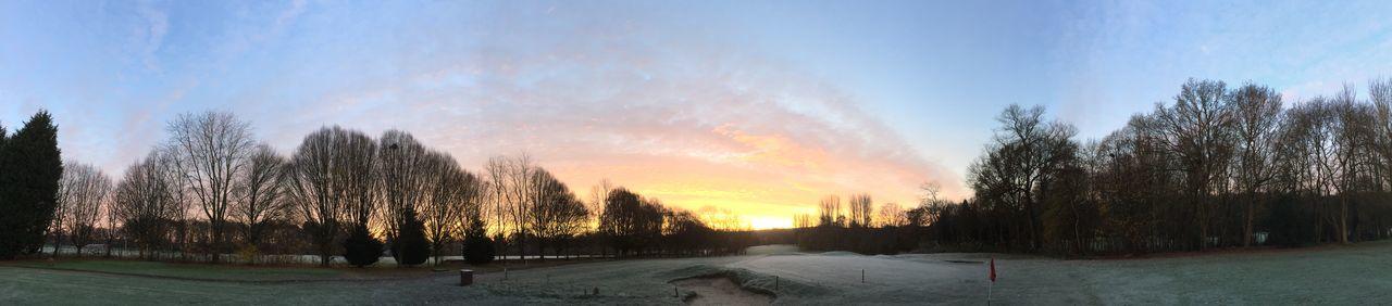 Golf Course Sunrise At Work Panaramic