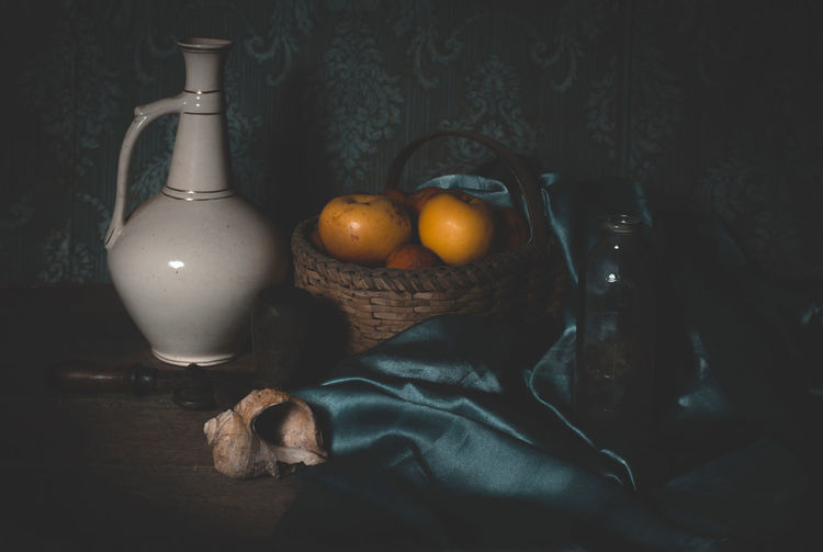 Still life Food Food And Drink Indoors  Fruit Wellbeing Table Healthy Eating No People Still Life Container Close-up Freshness Bottle Glass - Material Citrus Fruit Lighting Equipment Orange - Fruit Apple - Fruit Pear Transparent Orange