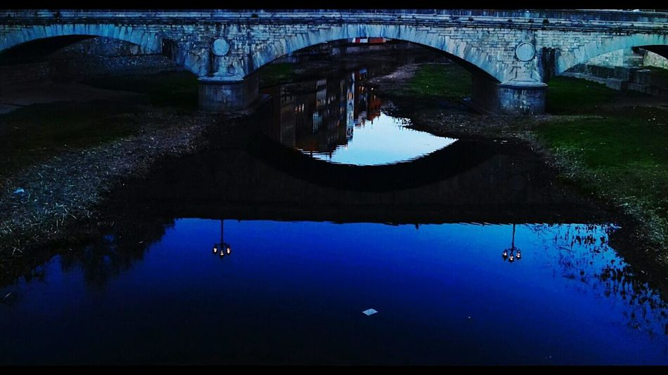 reflect EyeEmNewHere EyeEm Gallery EyeEm Best Shots EyeEm Nature Lover EyeEm Selects Reflection Bridge - Man Made Structure Water River Nautical Vessel Outdoors No People Sky Nature Architecture Night Colour Your Horizn Mobility In Mega Cities