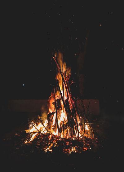 Holika Dahan Festival India Fire Light Night