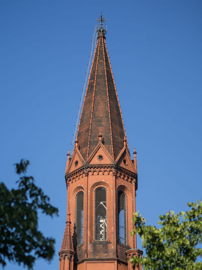 Low Angle View Of Emmaus Church Against Sky, Berlin