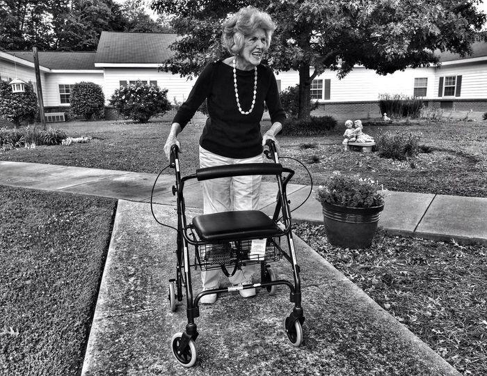 a stroll with Nana... Blackandwhite