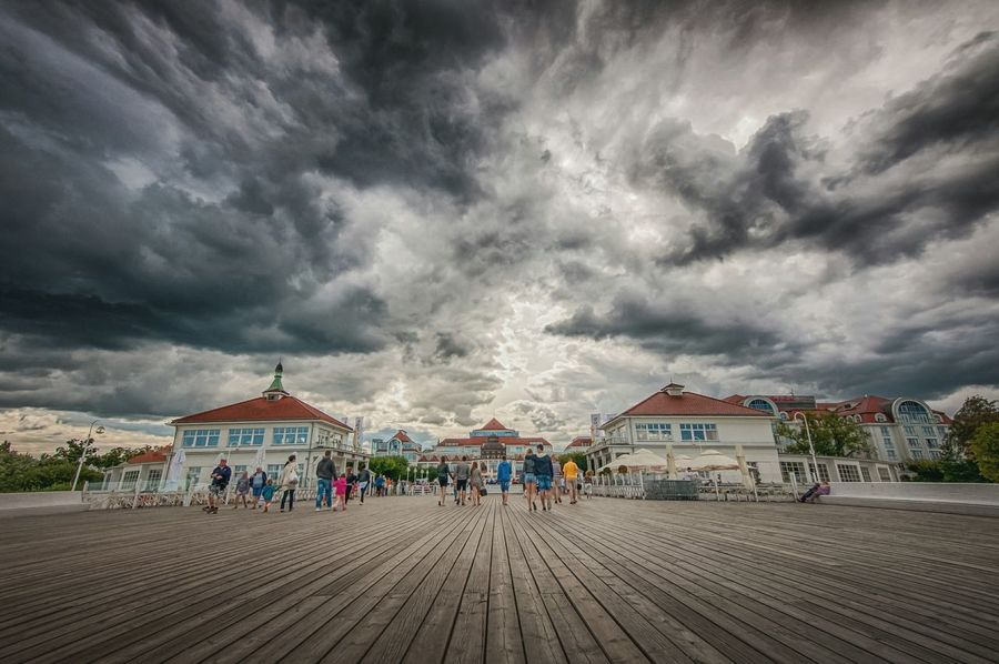 Clouds over Molo Pier in Sopot. Cloud Cloudy Cloudporn Sky Cloud - Sky Nature Landscape Mtphotography Outdoors Photography HDR Hdri Hdr Photography Addicted2walking Clouds Pier Travel Destinations Tourism Famous Place Holidays Miles Away
