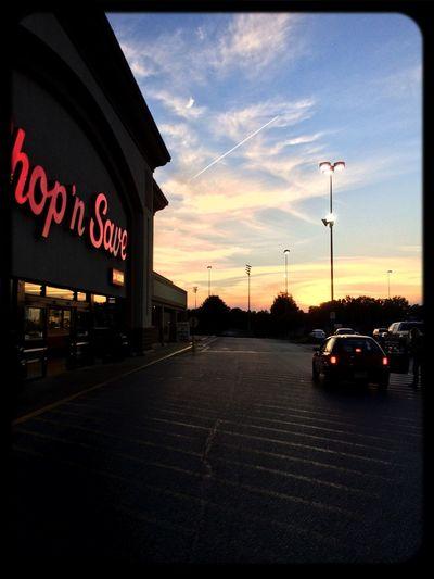 Enjoying the Sunset as I go Grocery Shopping Enjoying Life