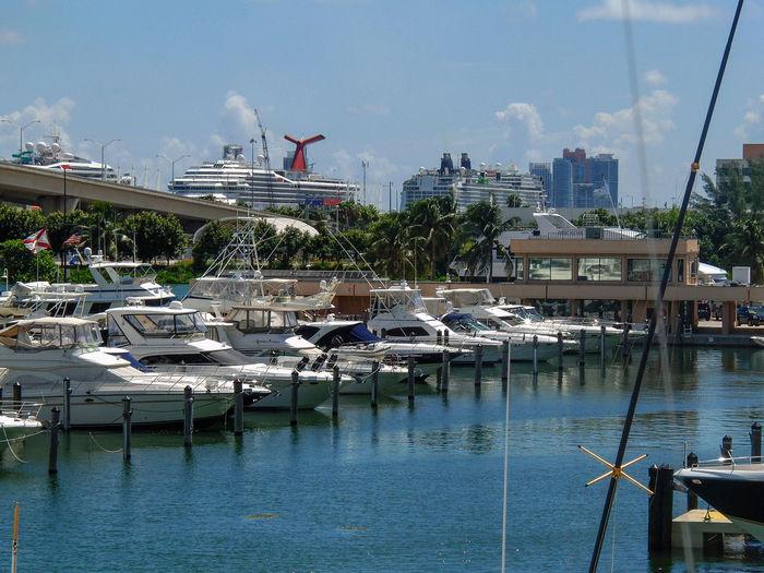 Bayside Miami Miami, FL USA Florida Harbor Nautical Vessel Transportation Water Yacht