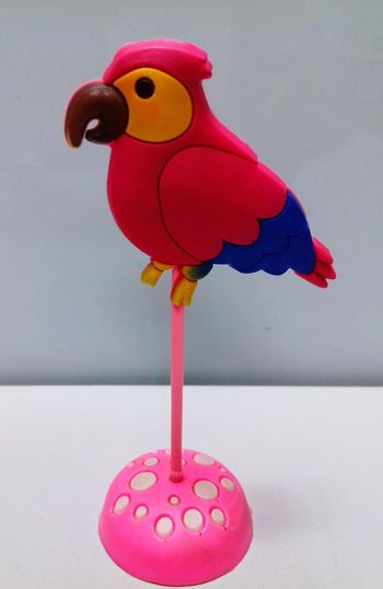 Lieblingsteil No People Studio Shot Pink Color Gray Background Day Toy Parrot Parrot Bird Parrots On Tree Parrotlover Parrot Stand Parrot Statue Pink Parrot Pink Parrot Stand Parrot With Blue Wings Parrot Love Favourite Thing Useful Toy Money Close-up White Background No Person