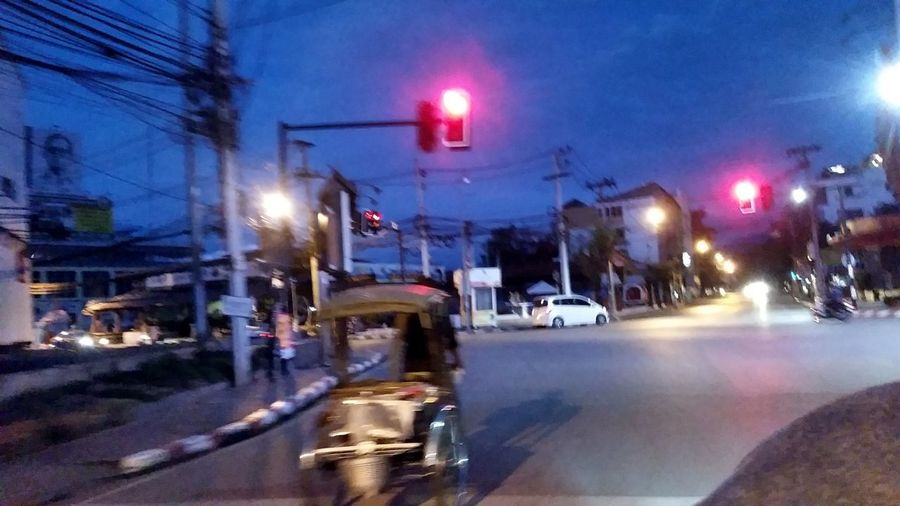 Road Tricycle Bangkok Tricycle Driver Tricycle Thailand Architecture Building Exterior Built Structure Car City Illuminated Land Vehicle Mode Of Transport Motion Night No People Outdoors Road Sky Street Transportation Tricycle Tricycle Art Tricycle Without Human Tricycle; Tricycles  Stories From The City