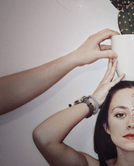 Human Hand Young Women Women Portrait Close-up Skin Care Human Skin Eye Make-up Modern Workplace Culture