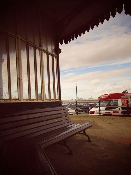 Transportation No People Day Architecture Outdoors Sky Pavilion Seaside Summer Bench Seating Icecream🍦 Icecreamvan New Brighton North West England
